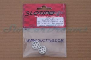 """Sloting Plus Stegfelge 15,9 x 8,5 mm für Achse 2,38 mm ALU => """"Paar"""""""