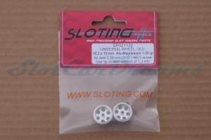 """Sloting Plus Stegfelge 16,2 x 10 mm für Achse 2,38 mm ALU => """"Paar"""""""