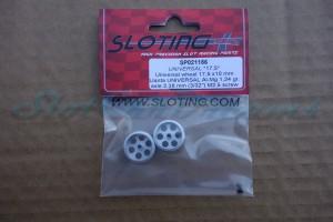 """Sloting Plus Stegfelge 17,5 x 10 mm für Achse 2,38 mm ALU => """"Paar"""""""