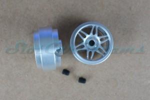 """Sloting Plus Stegfelge Monaco 16,9 x 9 mm für Achse 2,38 mm ALU => """"Paar"""""""