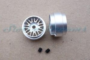 """Sloting Plus Stegfelge BBS 16,9 x 10 mm für Achse 2,38 mm ALU => """"Paar"""""""