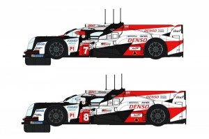 Toyota TS050 Denso 24H Le Mans 2018 Twin Pack