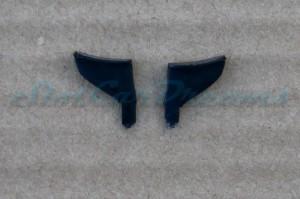 """Carrera Corvette C7.R flexible Heckflügelhalter Schwarz => """"Paar"""""""