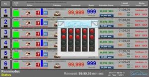 Wunschauflösung Rennbildschirm SCD Chaos mit direkter Punkte Bestrafung v2